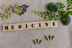 Ziołowych medycyn pojęcie Fotografia Stock