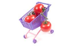 Konceptualna fotografia z miniaturowym wózek na zakupy Zdjęcie Stock