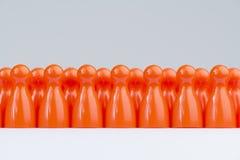 Konceptualna pomarańczowa gra z rzędu Fotografia Stock