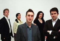 konceptualna przywództwa zespół jednostek gospodarczych Zdjęcia Stock