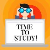 Konceptualna ręka pisze pokazywać czas Studiować Biznesowy fotografia teksta egzaminów potrzeby naprzód koncentrat w studiach ucz royalty ilustracja