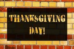 Konceptualna ręka pisze pokazywać dziękczynienie dzień Biznesowa fotografia pokazuje odświętności dziękczynności wdzięczności Lis obraz stock