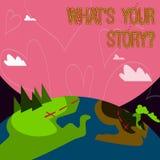 Konceptualna ręka pisze pokazywać Jaki S Twój Storyquestion Biznesowy fotografii pokazywać Łączy Komunikuje łączliwość związek ilustracji