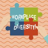 Konceptualna ręka pisze pokazywać miejsce pracy różnorodność Biznesowa fotografia pokazuje Różną biegową rodzaju wieka orientację ilustracji