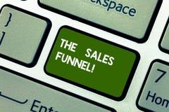 Konceptualna ręka pisze pokazywać sprzedaż leja Biznesowy fotografii pokazywać odnosić sie kupienie firm proces prowadzenie obraz stock