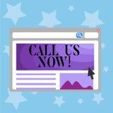 Konceptualna ręka pisze pokazywać wezwaniu Ja Teraz Biznesowy fotografia tekst Komunikuje telefonem kontaktować się centrum pomoc ilustracji