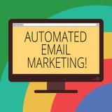 Konceptualna ręka pisze pokazywać Automatyzującego emaila marketing Biznesowa fotografia pokazuje emaila wysyłał automatycznie li ilustracja wektor