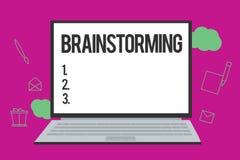 Konceptualna ręka pisze pokazywać Brainstorming Biznesowy fotografia teksta chwyt grupowa dyskusja produkować pomysł drużyny prac royalty ilustracja