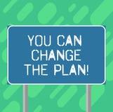 Konceptualna ręka pisze pokazywać Ciebie Może Zmieniać plan Biznesowy fotografia tekst Robi zmianom w twój planach osiągać ilustracji