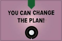 Konceptualna ręka pisze pokazywać Ciebie Może Zmieniać plan Biznesowy fotografia tekst Robi zmianom w twój planach osiągać cele K royalty ilustracja