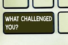 Konceptualna ręka pisze pokazywać Co Rzucał wyzwanie Ciebie Biznesowy fotografia teksta wezwanie someone uczestniczyć w konkurenc zdjęcia stock