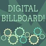 Konceptualna ręka pisze pokazywać Cyfrowego billboarda Biznesowa fotografia pokazuje billboarda obrazy cyfrowych którego dla wyst ilustracja wektor