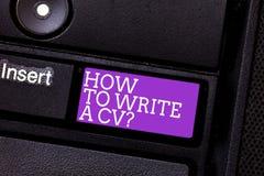 Konceptualna ręka pisze pokazywać Dlaczego Pisać A Cv Biznesowe fotografia teksta rekomendacje robić dobremu życiorysowi uzyskiwa zdjęcie royalty free