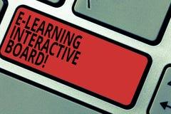 Konceptualna ręka pisze pokazywać E Uczy się Interaktywną deskę Biznesowy fotografia tekst integrował set interaktywny online zdjęcia royalty free