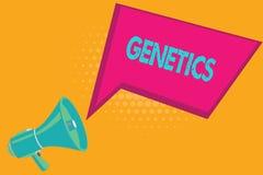 Konceptualna ręka pisze pokazywać genetykę Biznesowa fotografia teksta nauka dziedziczność i różnica odziedziczone właściwości ilustracji