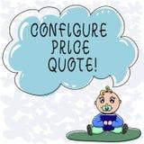 Konceptualna ręka pisze pokazywać Konfiguruje ceny wycenę Biznesowy fotografia teksta oprogramowanie używa firmami dla kosztować ilustracja wektor