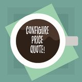 Konceptualna ręka pisze pokazywać Konfiguruje ceny wycenę Biznesowy fotografia teksta oprogramowanie używa firmami dla kosztować royalty ilustracja