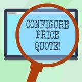 Konceptualna ręka pisze pokazywać Konfiguruje ceny wycenę Biznesowy fotografia teksta oprogramowanie używa firmami dla kosztować ilustracji