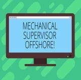 Konceptualna ręka pisze pokazywać Machinalnego nadzorcy Na morzu Biznesowy fotografia tekst nadzoruje instalacyjnego pracy puste  ilustracji