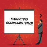 Konceptualna ręka pisze pokazywać Marketingowe komunikacje Biznesowego fotografia teksta Reklamowy Osobisty sprzedawanie i sprzed ilustracji