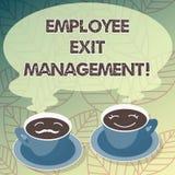 Konceptualna ręka pisze pokazywać pracownika wyjścia zarządzanie Biznesowy fotografia teksta rozdzielenia proces gdy pracownik re ilustracja wektor