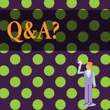 Konceptualna ręka pisze pokazywać Q I pytanie Biznesowy fotografia tekst w którym pyta pytania i inny demonstrujący ilustracja wektor