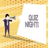 Konceptualna ręka pisze pokazywać quiz noc Biznesowa fotografia teksta wieczór testa wiedzy rywalizacja między jednostkami ilustracji