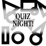 Konceptualna ręka pisze pokazywać quiz noc Biznesowa fotografia teksta wieczór testa wiedzy rywalizacja między jednostkami royalty ilustracja