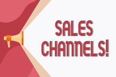 Konceptualna ręka pisze pokazywać sprzedaż kanały Biznesowy fotografii pokazywać wymaga biznesowy sprzedawać bezpośrednio swój ilustracja wektor