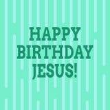 Konceptualna ręka pisze pokazywać wszystkiego najlepszego z okazji urodzin Jezus Biznesowy fotografia tekst Świętuje narodziny św ilustracji