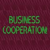 Konceptualna ręka pisze seansu biznesu współpracy Biznesowa fotografia pokazuje biznesy pracować wpólnie dla wspólnego royalty ilustracja