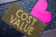 Konceptualna ręki writing seansu kosztu wartość Biznesowy fotografia tekst kwota która zazwyczaj płacił dla rzeczy ty kupujesz lu zdjęcia royalty free