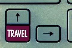 Konceptualna ręki writing seansu podróż Biznesowy fotografia tekst robi podróży typowo niektóre długość na zewnątrz twój lub wśro fotografia stock