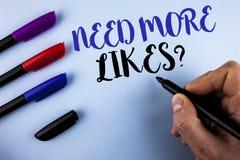 Konceptualna ręki writing seansu potrzeba Więcej podobieństwa pytanie Biznesowego fotografia teksta Ogólnospołeczni środki tworzą Zdjęcia Royalty Free