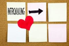Konceptualna ręki writing teksta podpisu inspiracja pokazuje Przedstawiający pojęcie dla wprowadzenie początku wstępu miłości i p fotografia stock