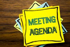 Konceptualna ręki writing teksta podpisu inspiracja pokazuje spotkanie agendę Biznesowy pojęcie dla Biznesowego rozkładu planu pi Obraz Royalty Free