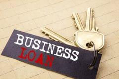 Konceptualna ręki writing teksta podpisu seansu Biznesowa pożyczka Biznesowy pojęcie dla Pożyczać finanse kredyt pisać na nutoweg obrazy royalty free