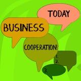 Konceptualna r?ka pisze seansu biznesu wsp??pracy Biznesowi fotografia teksta biznesy pracowa? wp?lnie dla wzajemnej korzy?ci ilustracji