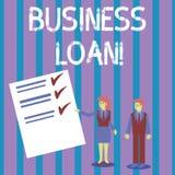 Konceptualna r?ki writing seansu Biznesowa po?yczka Biznesowa fotografia pokazuje pożyczki pod warunkiem, że mali biznesy dla róż ilustracja wektor