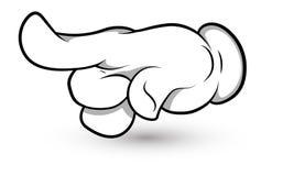 Kreskówki ręka Wektorowa ilustracja - Palcowa Wskazuje sztuka - zdjęcie stock