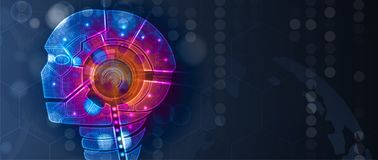 Konceptualna technologii ilustracja sztuczna inteligencja royalty ilustracja