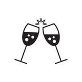 Konceptualna wektorowa ilustracja iskrzaści szampańscy szkła Zdjęcia Stock