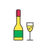 Konceptualna wektorowa ilustracja iskrzaści szampańscy szkła C Zdjęcia Royalty Free