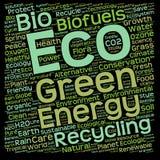 Konceptualna zielona eco lub ekologii słowa chmura Fotografia Stock