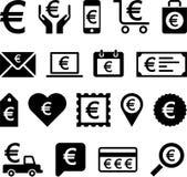 Konceptualne Euro ikony Zdjęcie Royalty Free