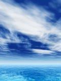 Konceptualne morza, oceanu wodne fala lub Obrazy Royalty Free