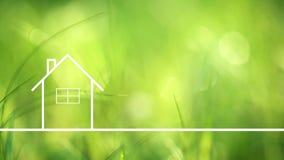 Konceptualnego eco domu zdrowy utrzymanie Obraz Royalty Free