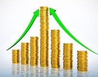 konceptualnego pieniężnego wzrostowego wizerunku odosobniony biel Zdjęcie Stock