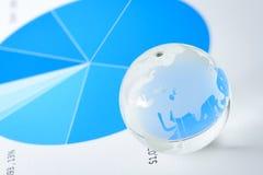 konceptualnej kryzysu gospodarki globalny wizerunku spekulaci świat Zdjęcia Stock