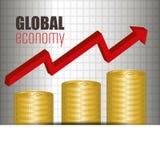 konceptualnej kryzysu gospodarki globalny wizerunku spekulaci świat Fotografia Royalty Free
